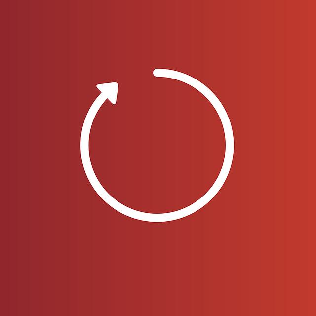 ikonka aktualizace v rudém poli